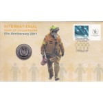 2011 INTERNATIONAL YEAR OF VOLUNTEERS FIRST DAY COIN AND STAMP COVER