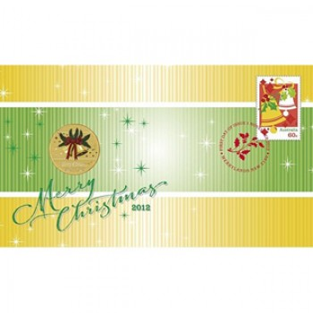 2012 AUSTRALIAN CHRISTMAS FIRST DAY COIN AND STAMP COVER