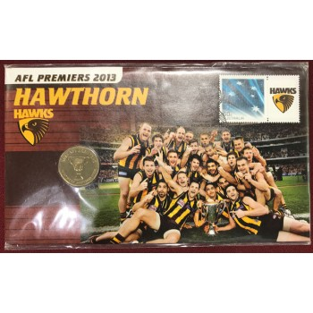 2013 AFL Hawthorn Premiers First Day Coin and Stamp Cover