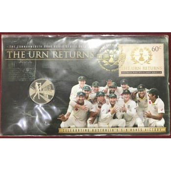 2013 The Ashes Urn Returns First Day Coin and Stamp Cover
