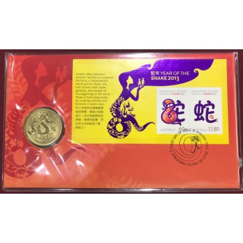 2013 Year of the Snake First Day Coin and Stamp Cover