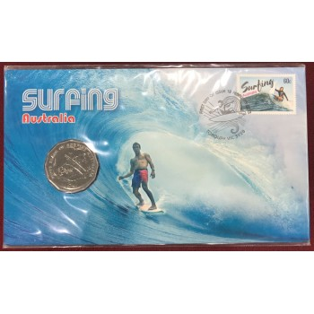 2013 Surfing Australia First Day Coin and Stamp Cover