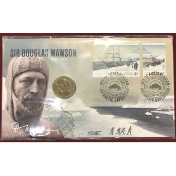 2012 Sir Douglas Mawson First Day Coin and Stamp Cover
