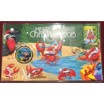 2015 Christmas First Day Coin and Stamp Cover