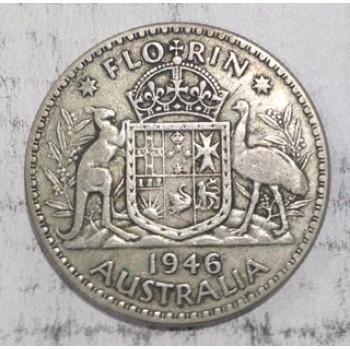 1946 AUSTRALIAN SILVER ONE FLORIN