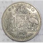 1952 AUSTRALIAN SILVER ONE FLORIN