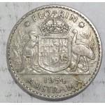 1954 AUSTRALIAN SILVER ONE FLORIN