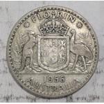 1956 AUSTRALIAN SILVER ONE FLORIN