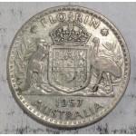 1957 AUSTRALIAN SILVER ONE FLORIN