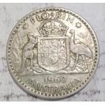 1960 AUSTRALIAN SILVER ONE FLORIN