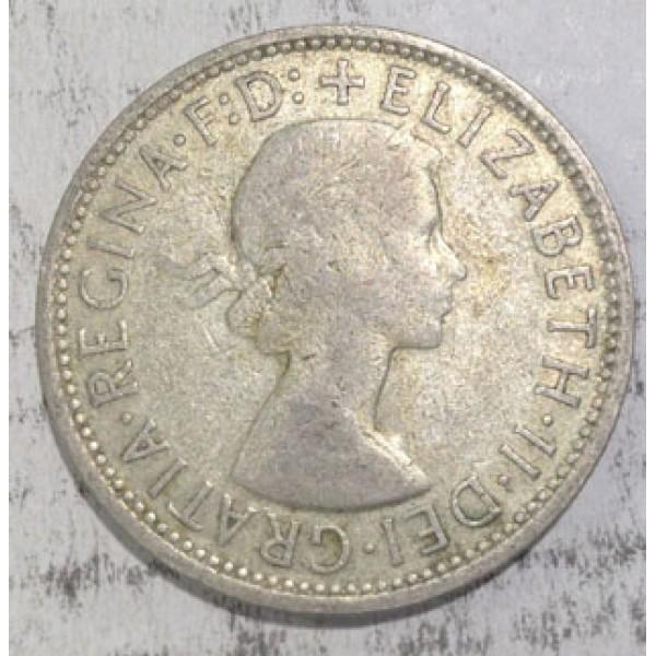 1960 Australian Silver One Florin Sydney Coins