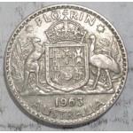 1963 AUSTRALIAN SILVER ONE FLORIN