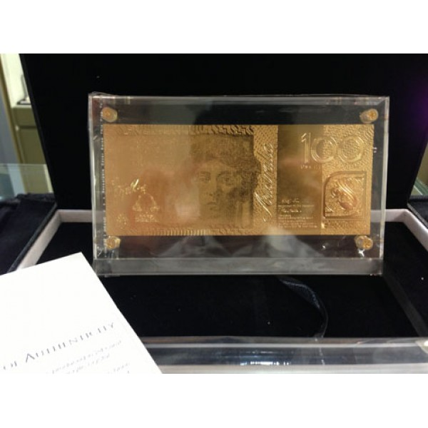 Australian 100 Gold Foil Note Sydney Coins Amp Jewellery