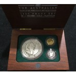 1990 Australian Precious Metal 3-Coin Set