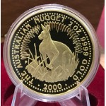 2000 Australia 2oz Gold Kangaroo Proof Coin