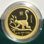 2004 Year of the Monkey 1/4oz Gold Proof Coin
