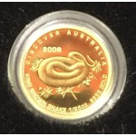 2008 Australian 1/25oz Gold Proof Coin - King Brown Snake
