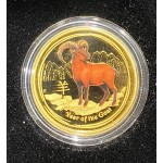 2015 Chinese Year of the Goat 1/4oz Gold Coloured Proof Coin