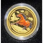 2014 Chinese Year of the Horse 1/10oz Gold Coloured Proof Coin