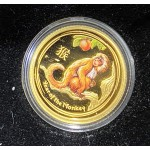 2016 Chinese Year of the Monkey 1/10oz Gold Coloured Proof Coin