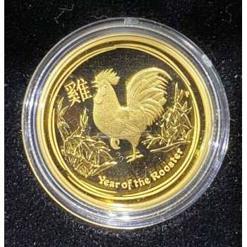 2017 Chinese Chinese Year of the Rooster 1/4oz Gold Proof Coin