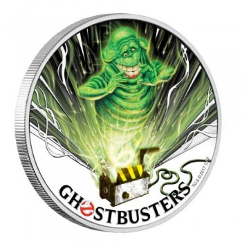 2017 Ghostbusters™ - Slimer 1oz Silver Coin