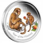 2016 Year of the Monkey 1oz Silver Proof Coloured Coin