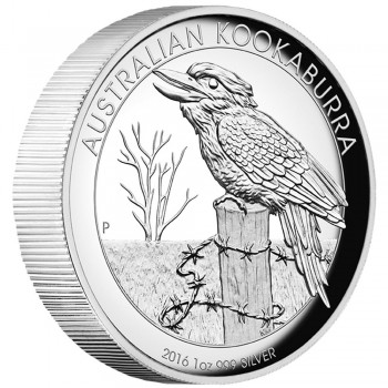 2016 Australian 1oz Silver High Relief Kookaburra Proof Coin
