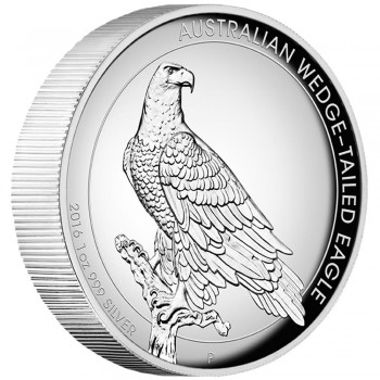2016 Australian Wedged-Tailed Eagle 1oz Silver High Relief Coin