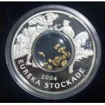 2004 Eureka Stockade 1oz Silver Proof Locket Coin