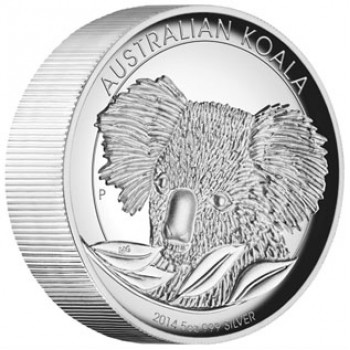 2014 Australian 5oz SIlver High Relief Proof Koala Coin