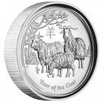 2015 Year of the Goat 1oz Silver High Relief Proof Coin