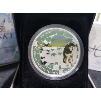 2010 Australian Antarctic Territory Series 1oz Silver Coin Husky