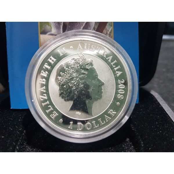 2008 Australian Gilded 1oz Silver Koala Coin Sydney