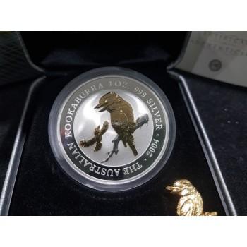 2004 Australian Gilded 1oz Silver Kookaburra Coin