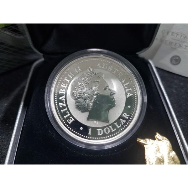 2006 Australian Gilded 1oz Silver Kookaburra Coin Sydney