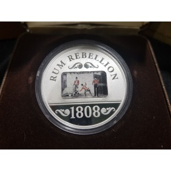 2008 200th Anniversary of the Rum Rebellion 1oz Silver Proof Coin