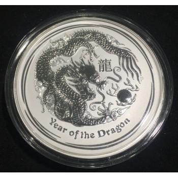 2012 Year of the Dragon Kilo Silver Coin
