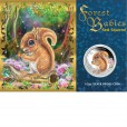 2013 FOREST BABIES 1/2OZ SILVER PROOF COIN -  RED SQUIRREL