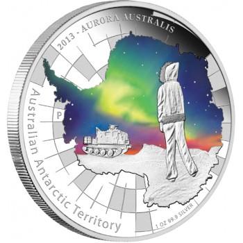 2013 AUSTRALIA ANTARCTIC TERRITORY 1oz SILVER PROOF COIN - AURORA AUSTRALIS