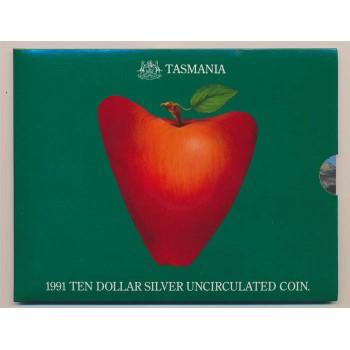 1991 Australian Silver State Series Uncirculated Coin - Tasmania