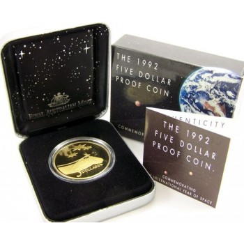 1992 Australian $5 Year of Space Proof Coin