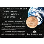 1992 Australian $5 Year of Space Uncirculated Coin