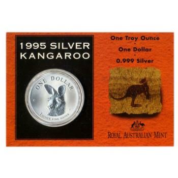 1995 Australian 1oz Silver Kangaroo Uncirculated Coin