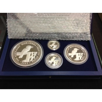 1997 Australian 4 Coin Silver Kookaburra Collection