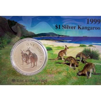 1999 Australian 1oz Silver Kangaroo Uncirculated Coin