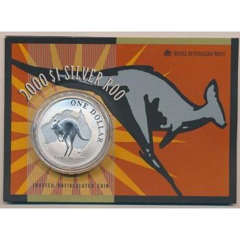 2000 Australian 1oz Silver Kangaroo Uncirculated Coin