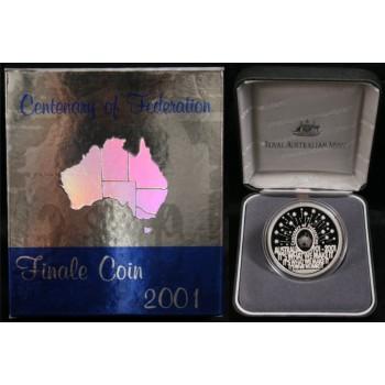 2001 Australian FIRST Hologram Silver Coin - Federation