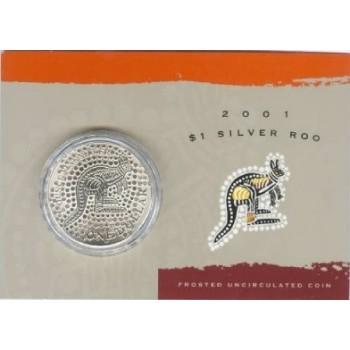 2001 Australian 1oz Silver Kangaroo Uncirculated Coin