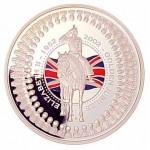2002 Australia Golden Jubilee Queen Elizabeth II Accession 1oz Silver Proof Coin